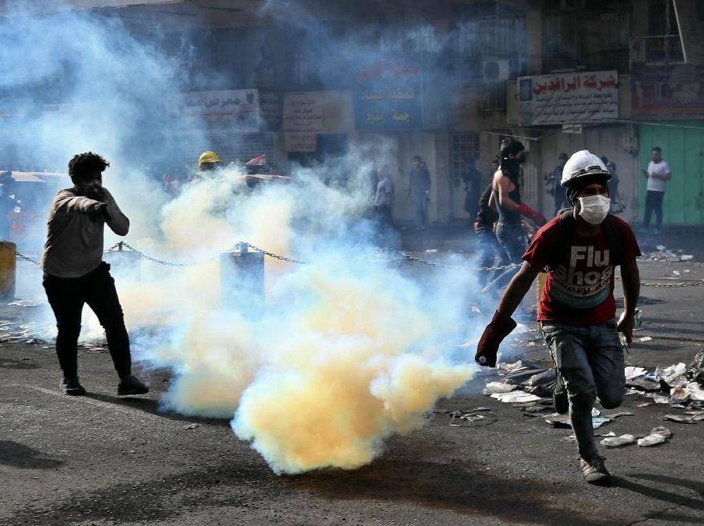 Unjuk Rasa Berlanjut di Irak, 4 Demonstran Tewas Kena Tabung Gas Air Mata