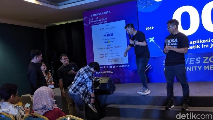 Keseruan community meet up detikcom di Social Media Week 2019 (Agus Tri Haryanto/detikcom)