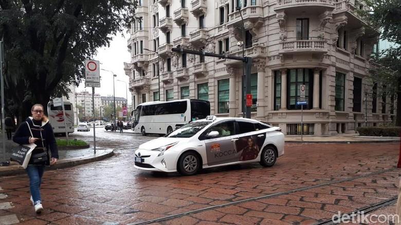 Taksi di Milan Foto: Mohammad Luthfi Andika
