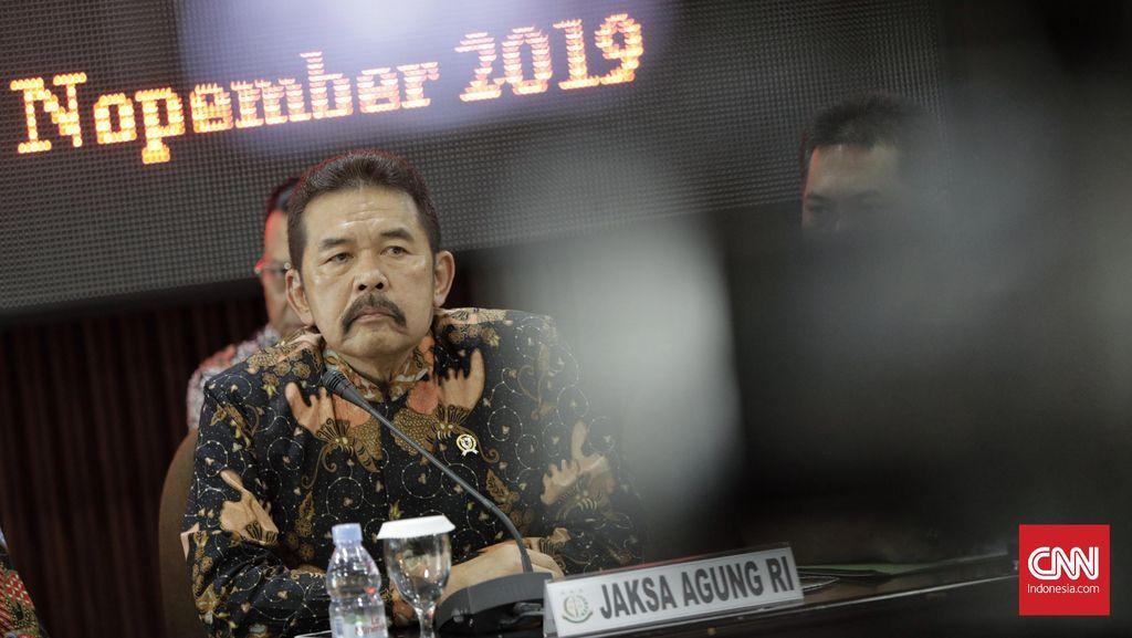 Jaksa Agung  Sanitiar Burhanuddin saat memberikan keterangan pada wartawan. Jakarta, Jumat, 15 November 2019.