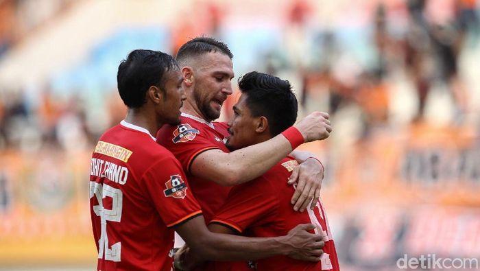 Persija Jakarta vs Persipura Jayapura di Liga 1 2019. ( Foto: Rifkianto Nugroho.detikcom)