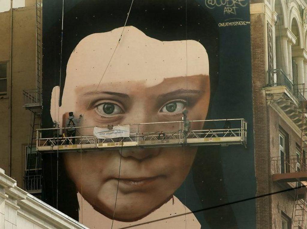 Mural Aktivis Greta Thunberg Muncul di San Francisco