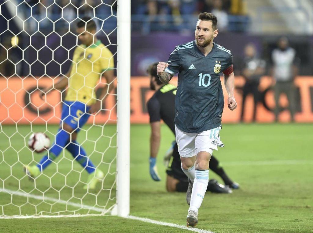 Meski Friendly, Messi Senang Argentina Kalahkan Brasil