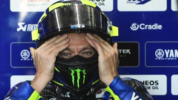 Valentino Rossi di pengujung karier sebagai pebalap MotoGP. (