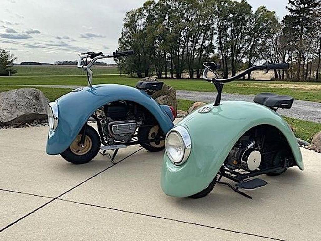 Lucu, Volkspod Minibikes Dibuat dari Fender VW Kodok