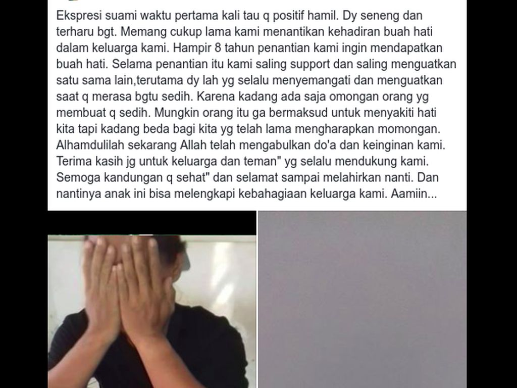 Viral Ekspresi Suami Nangis Lihat Hasil Test Pack, 8 Tahun Menanti Anak
