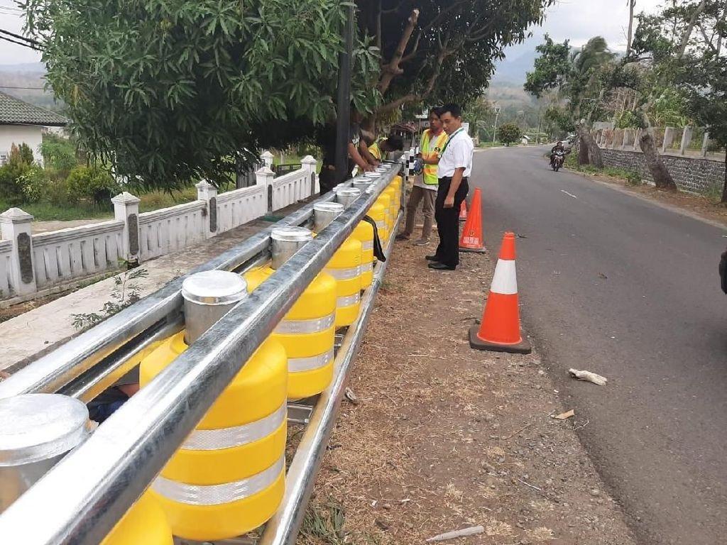 7 Titik Rawan Kecelakaan di Jabar Terpasang Roller Barrier