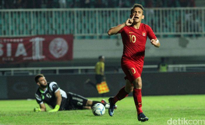 Egy Maulana Vikri jadi pahlawan Indonesia dengan golnya dan memastikan kemenangan Merah Putih.
