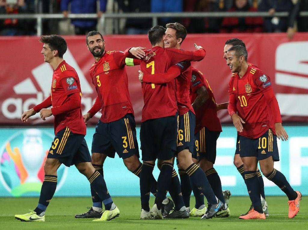 Kualifikasi Piala Eropa: Tampil Sangat Dominan, Spanyol Gulung Malta 7-0