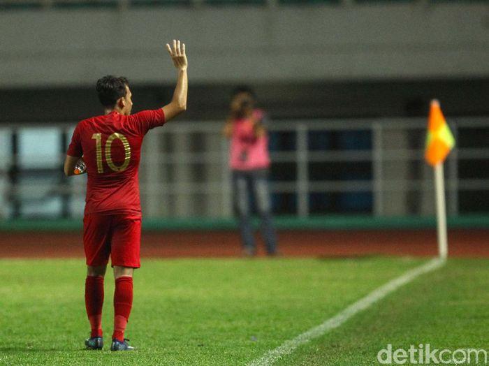 Egy Maulana Vikri menjadi starter saat Indonesia melawan Thailand. (Foto: Rifkianto Nugroho/detikcom)