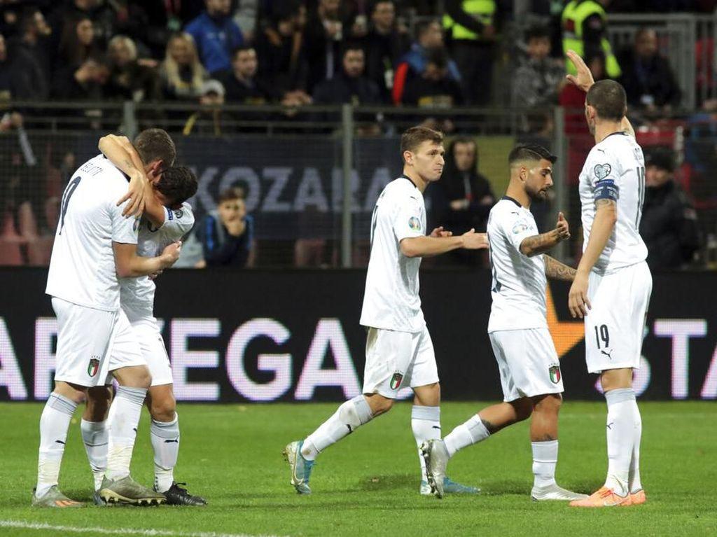 Top! Italia Catat Rekor 10 Kemenangan Beruntun