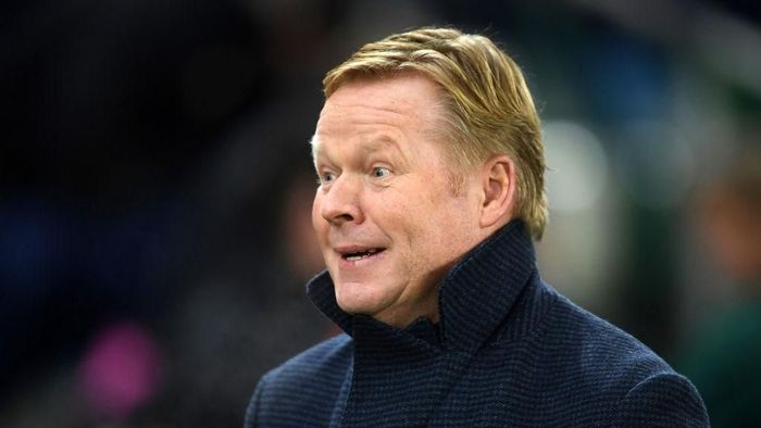 BELFAST, NORTHERN IRELAND - NOVEMBER 16: Head Coach of Netherlands, Ronald Koeman looks on during the UEFA Euro 2020 Group C Qualifier match between Northern Ireland and Netherlands at Windsor Park on November 16, 2019 in Belfast, Northern Ireland. (Photo by Mike Hewitt/Getty Images)