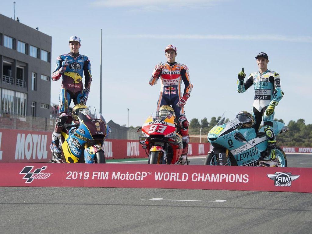 Tiga Raja Balap Motor 2019: Alex, Marc, dan Dalla Porta