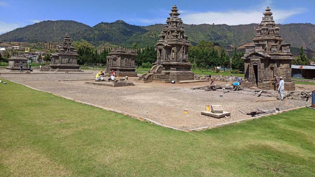 Foto: Wajah Candi Sembadra di Dieng Dulu & Kini