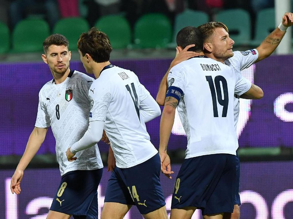 4 Fakta Usai Italia Hajar Armenia 9 Gol
