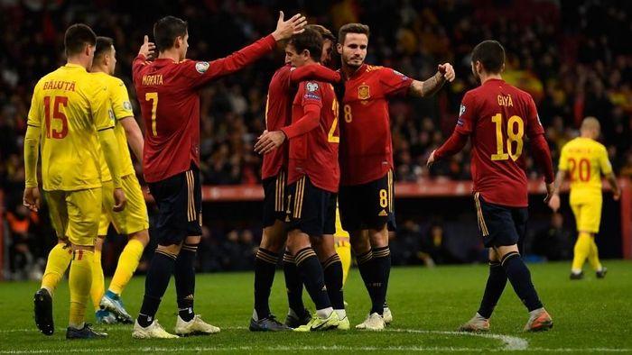 Spanyol menang 5-0 atas Rumania di Kualifikasi Piala Eropa 2020 (Foto: PIERRE-PHILIPPE MARCOU / AFP)