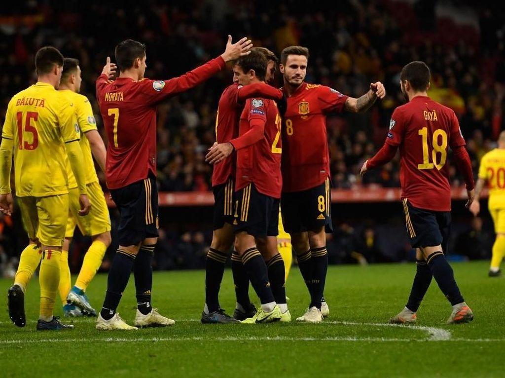 Kualifikasi Piala Eropa 2020: Spanyol Bungkam Rumania 5-0