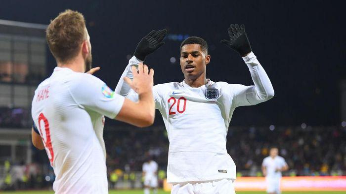 Marcus Rashford tampil kini tampil subur dengan mengemas sembilan gol dari 10 laga (Foto: Michael Regan/Getty Images)