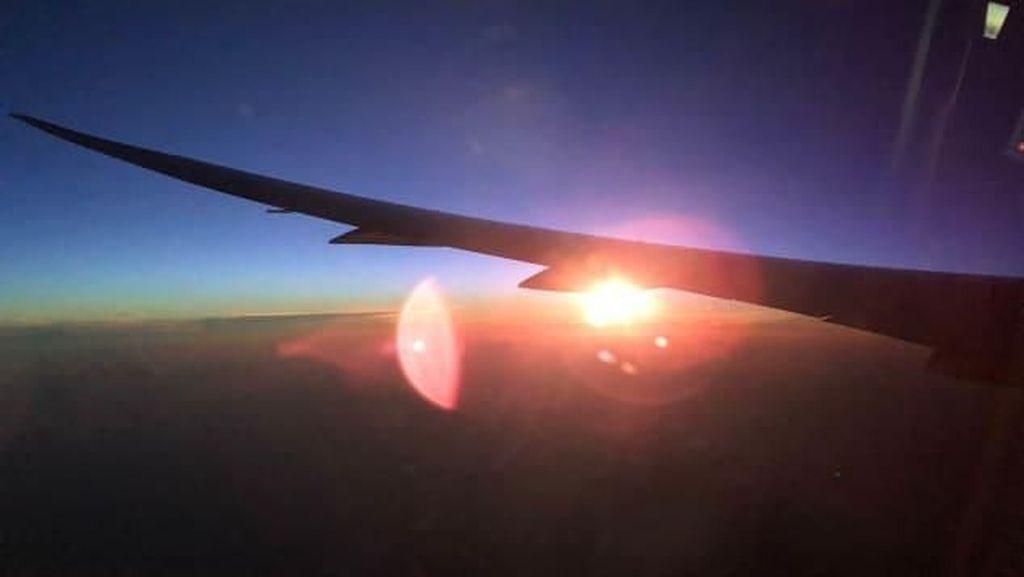 Foto Pesawat Australia Terbang di Rute Terpanjang Sedunia