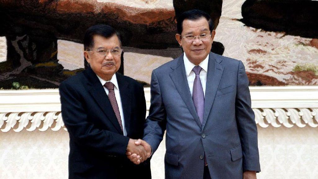 Pererat Hubungan Bilateral, JK Temui PM Kamboja