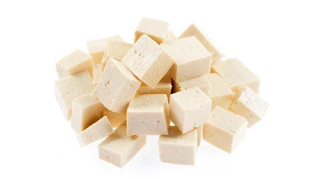 White Tofu  on the White background