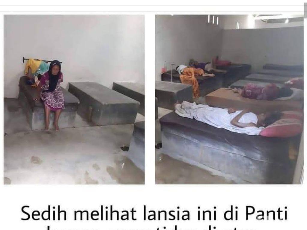 Viral Lansia Tidur di Coran Tanpa Alas, Ini Kata Pendiri Panti