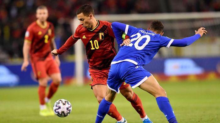Belgia menyapu bersih kemenangan di Kualifikasi Piala Eropa 2020 usai mengalahkan Siprus 6-1 di matchday terakhir (Foto: JOHN THYS / AFP)