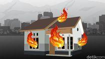 Rumah Warga Pangandaran Terbakar Gegara Trafo Pengisian Aki Meledak