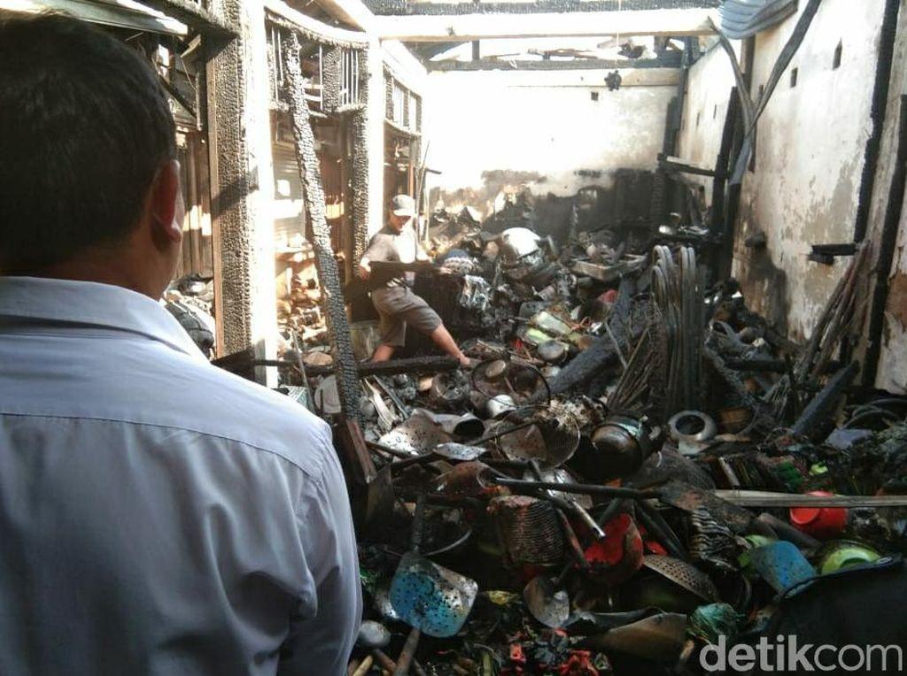 Kebakaran Pasar Guntur Garut Diduga Akibat Korsleting Listrik