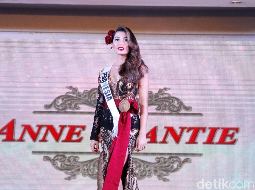 Terpeleset, Puteri Indonesia Tetap Anggun di Penjurian Miss Universe 2019