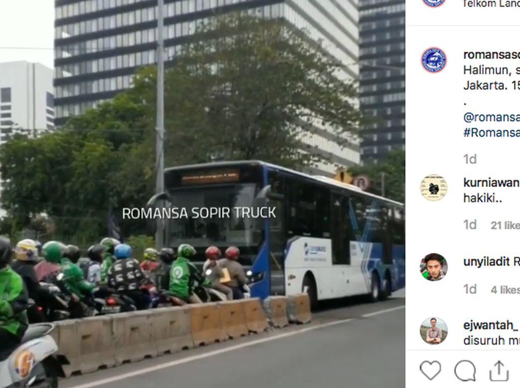 Pengendara Nakal Lewat Jalur Busway, TransJakarta Pantang Mundur!