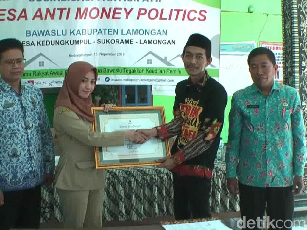 Desa yang Dipimpin Kades Cantik Angely Jadi Pilot Project Anti Money Politic