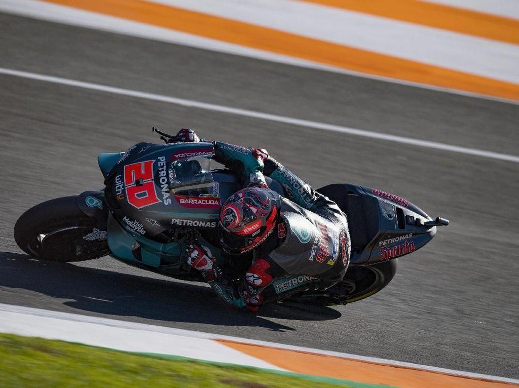Alex Marquez Crash, Quartararo Kuasai Hari Pertama Tes MotoGP Valencia