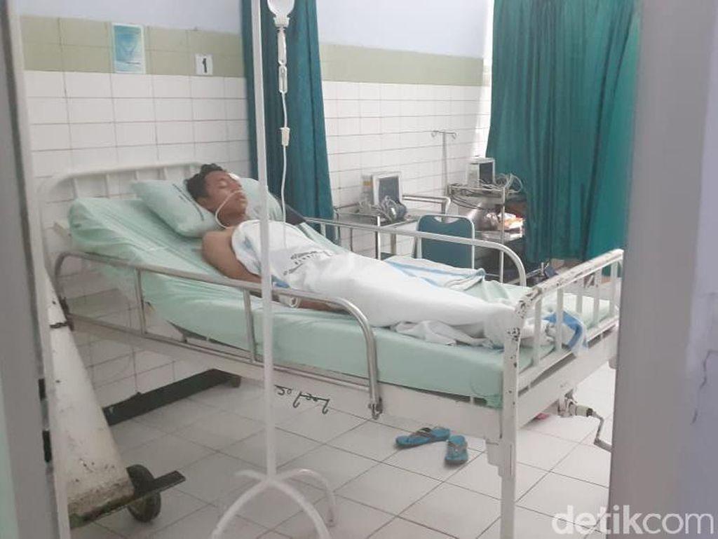 Ganjar Jamin Biaya Pengobatan Korban Aula Roboh di SMKN 1 Miri Sragen