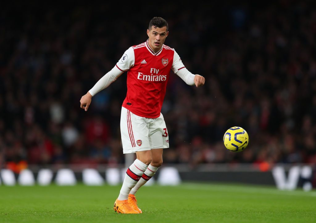 LONDON, ENGLAND - OCTOBER 27: Granit Xhaka of Arsenal during the Premier League match between Arsenal FC and Crystal Palace at Emirates Stadium on October 27, 2019 in London, United Kingdom. (Photo by Catherine Ivill/Getty Images)