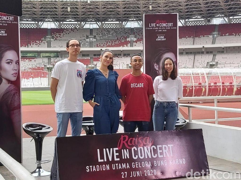 Siapkan Konser Tunggal di GBK, Raisa Tegaskan Bukan Ajang Pamer