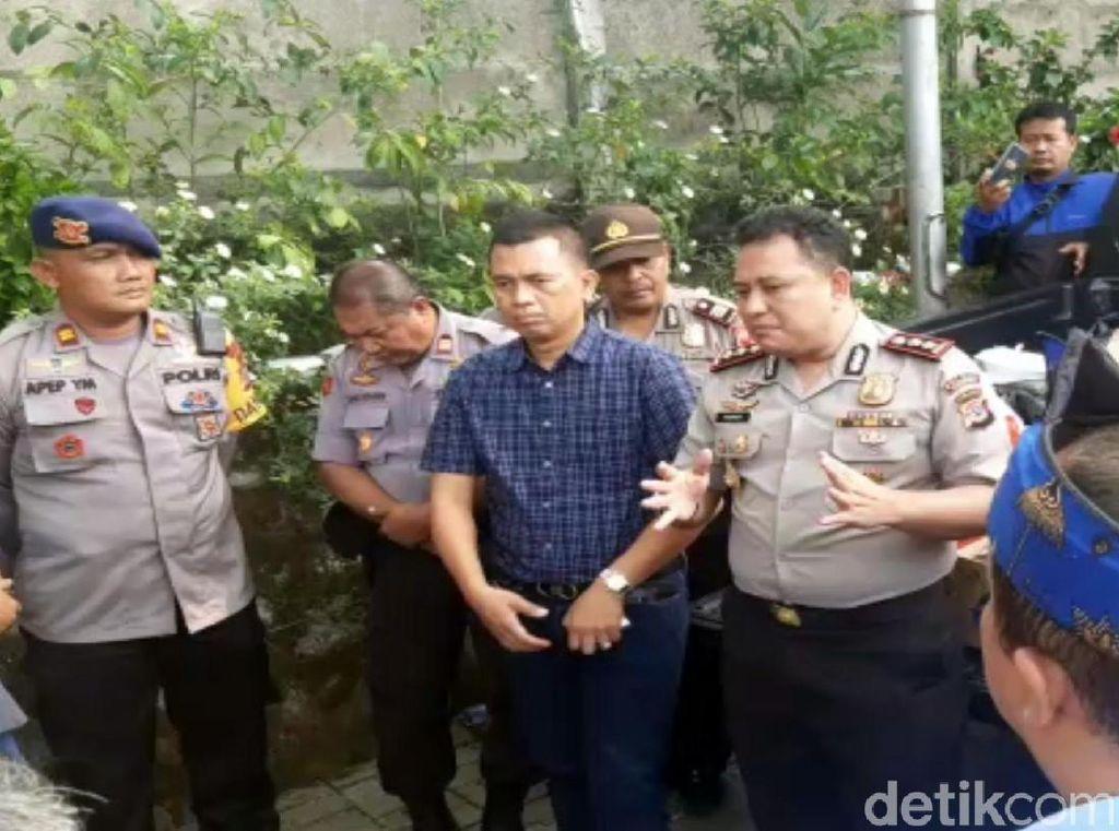 Cegah Buruh Sukabumi Demo ke Bandung, Polisi Berjaga di Pabrik