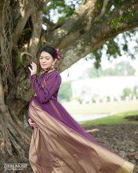 Selvi Ananda saat maternity shoot