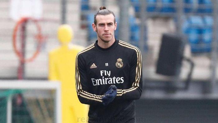 Gareth Bale berlatih bersama Real Madrid di Valdebebas, Madrid, Kamis (21/11/2019)