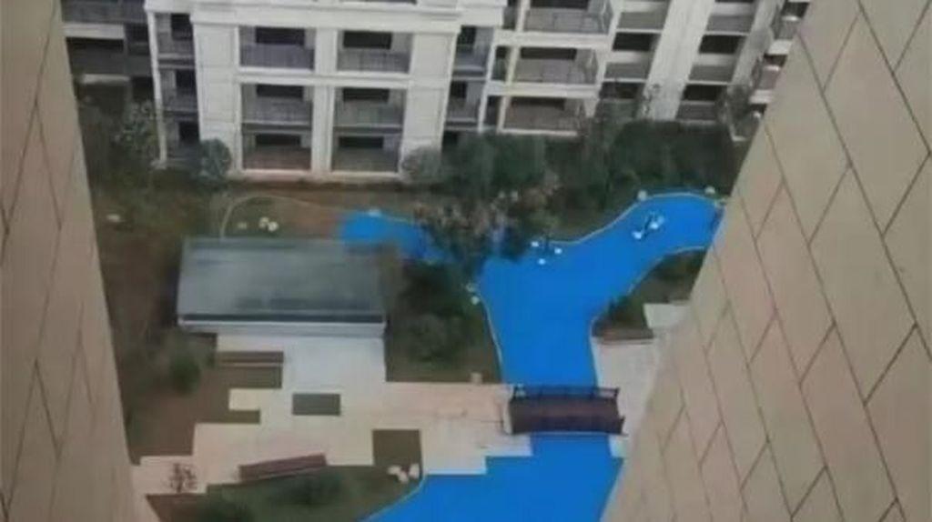 Duh! Kirain Danau Beneran di Apartemen, Nggak Tahunya Palsu