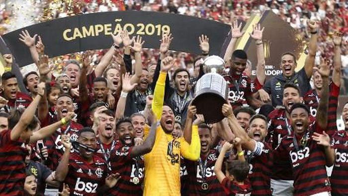 Flamengo berhasil menjadi juara Copa Libertadores 2019 (Foto: Luka GONZALES / AFP)