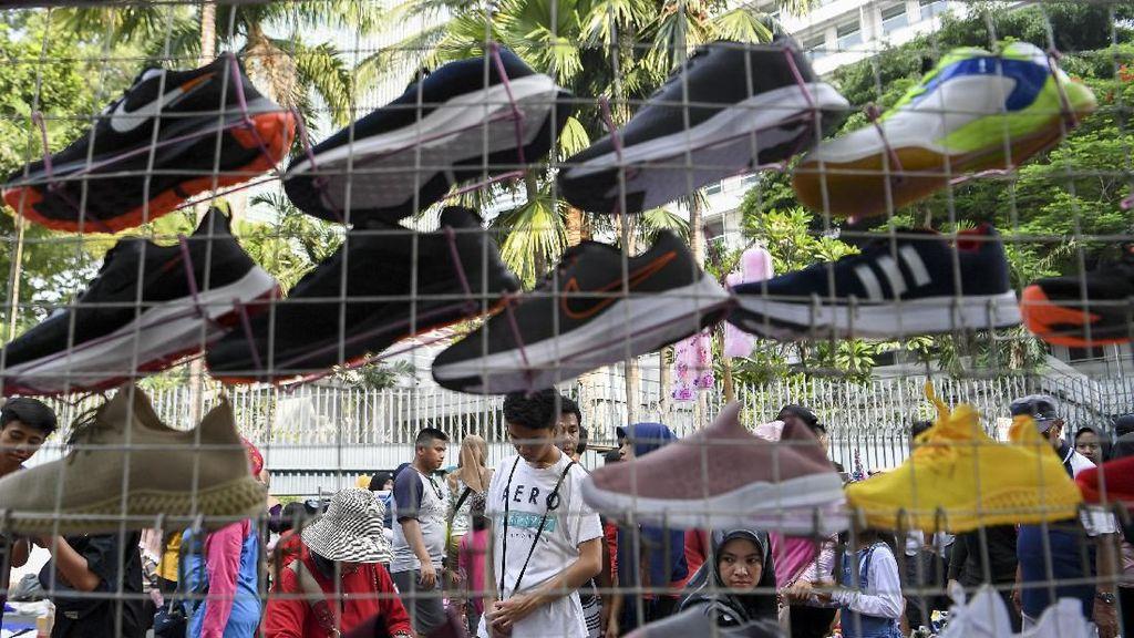 Penataan PKL saat HBKB di Jakarta