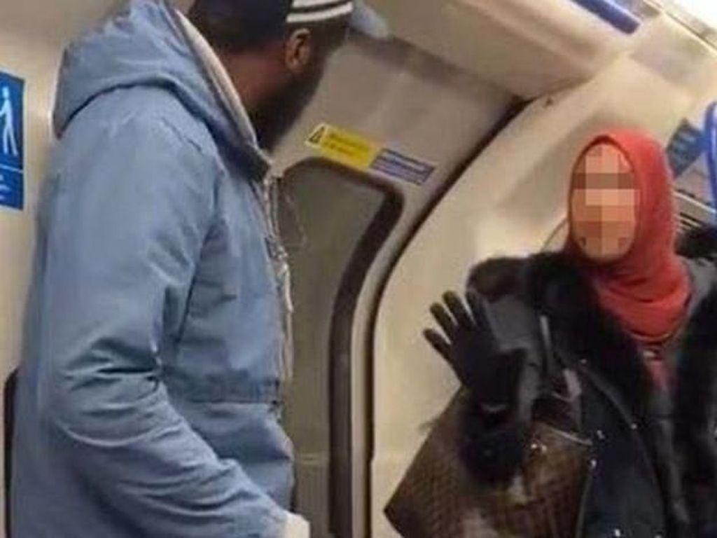 Viral Perempuan Muslim Bela Bocah Yahudi yang Dilecehkan di Kereta Inggris