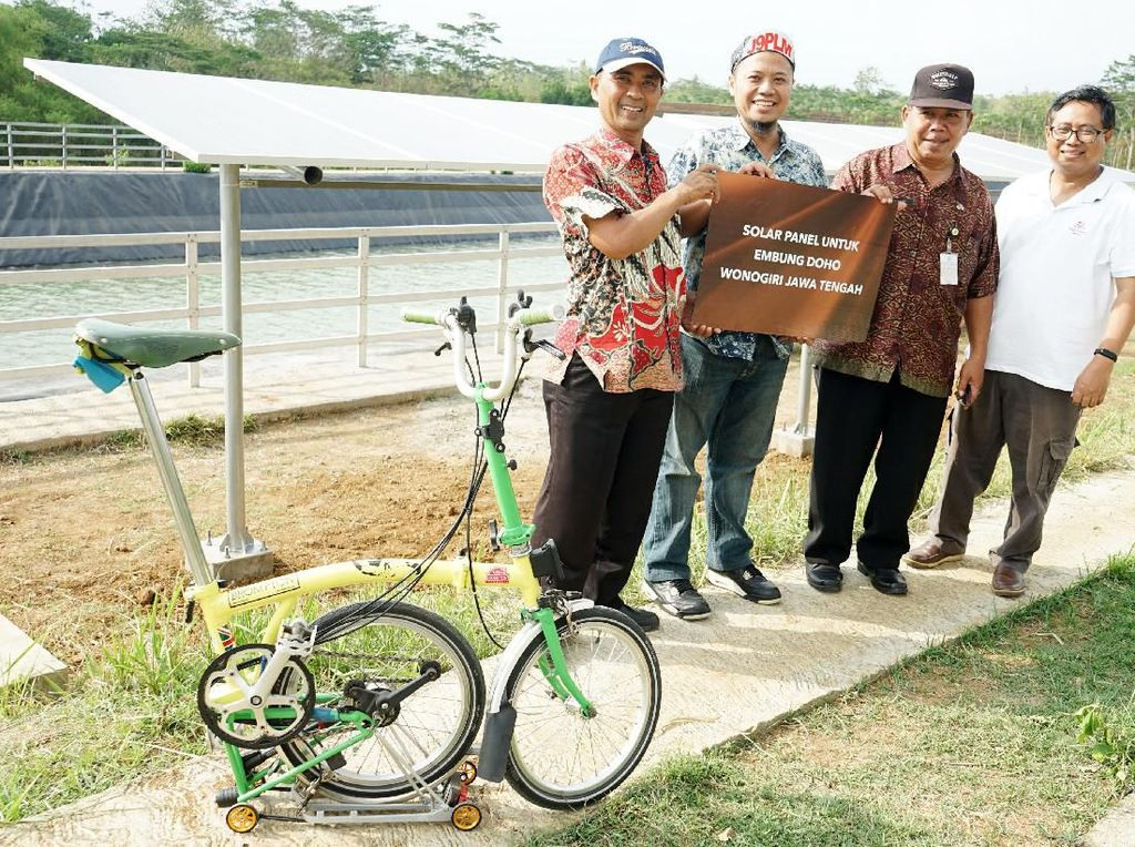 Pemanfaatan Panel Surya di Desa Embung Doho Wonogiri