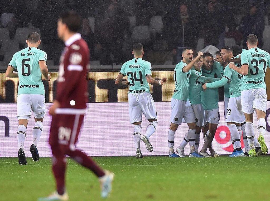 Gebuk Torino 3-0, Inter Pepet Juventus di Klasemen Liga Italia