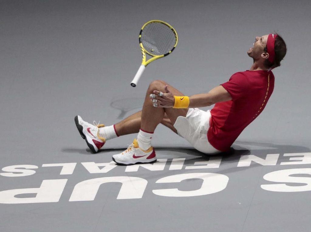 Ekspresi Nadal Usai Antar Spanyol Juara Piala Davis 2019