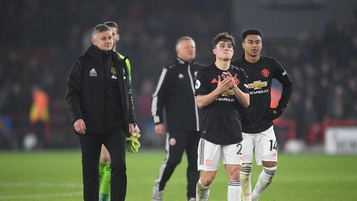 Pelajarn berharga untuk skuat muda Manchester United usai diimbangi Sheffield United (Michael Regan/Getty Images))
