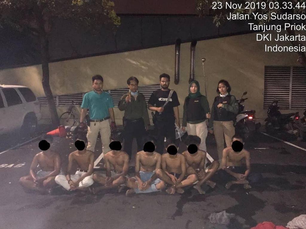 Bawa Sajam, 7 Remaja Ditangkap Tim Tiger Polres Jakut di Tanjung Priok