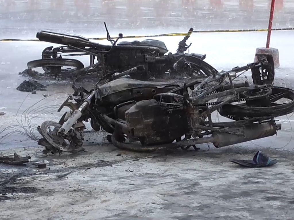 SPBU di Bangka Terbakar, 5 Motor dan Nozel Ludes