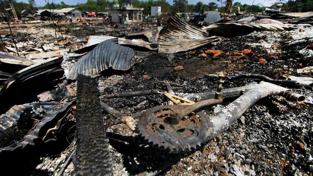Pasca-Kebakaran, Desa Sungai Bali Luluh Lantah